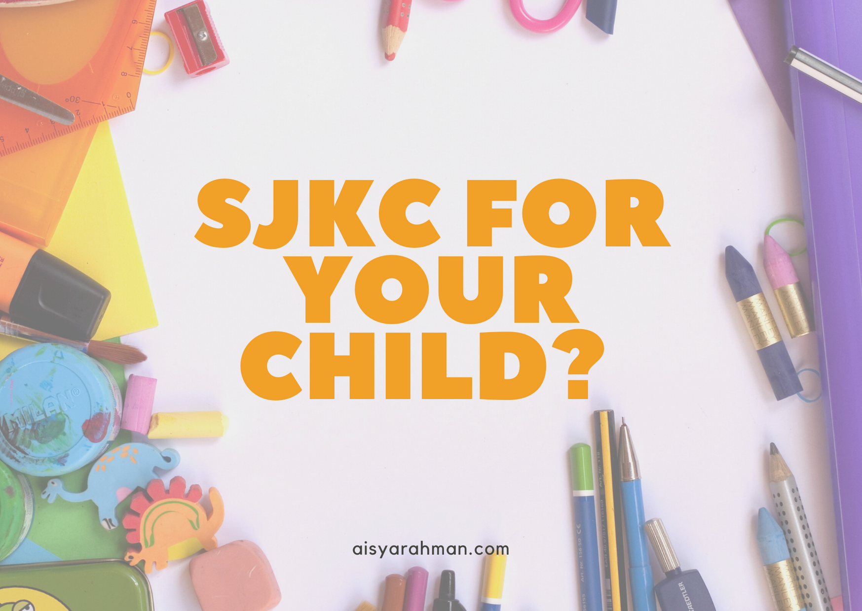 Thinking about sending your children to SJKC for primary?